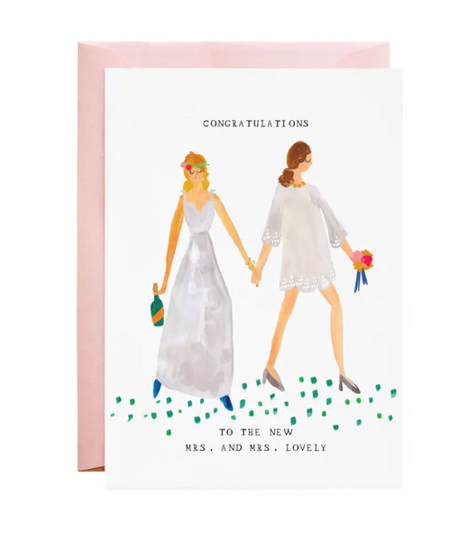 The New Mrs. and Mrs. Greeting Card