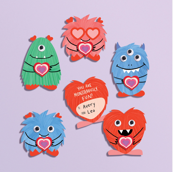 Monster Eraser DIY Valentine's Craft Kit
