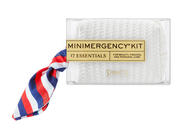 White Basketweave minimergency Kit for Her