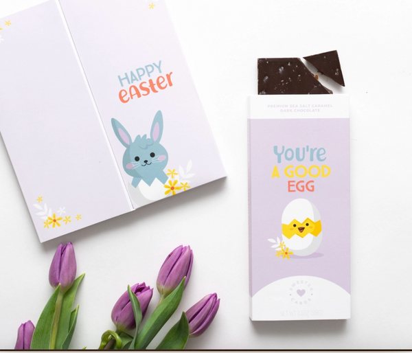 Easter Card with Chocolate Bar inside