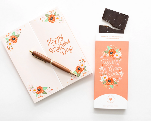 Mother's Day Card with Chocolate Bar inside