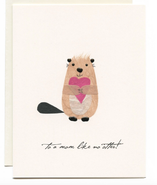 """To a Mom Like No Other!"" Otter w/ Heart Card"
