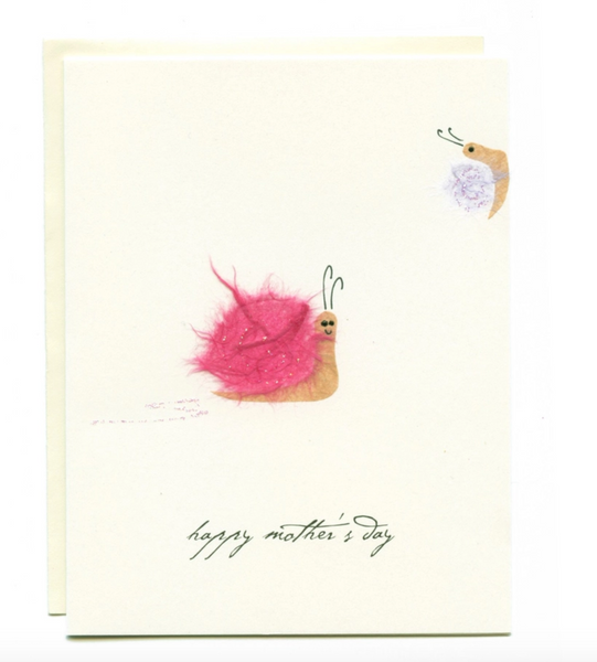 """Happy Mother's Day"" Mom and Baby Snails Card"