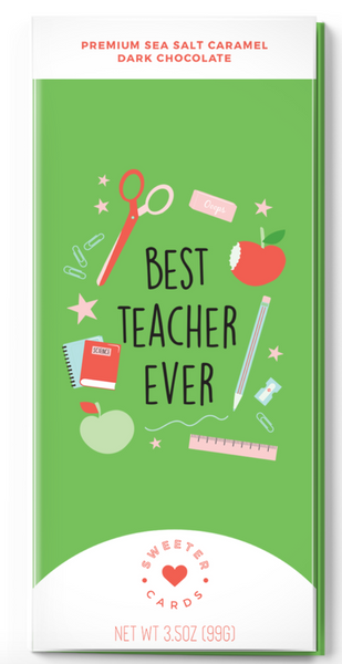 Teacher Appreciation Card with Chocolate Bar inside