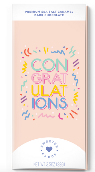 Congratulations Card with Chocolate Bar inside