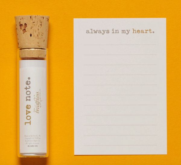 """Always In My Heart"" Love Note Bottle"