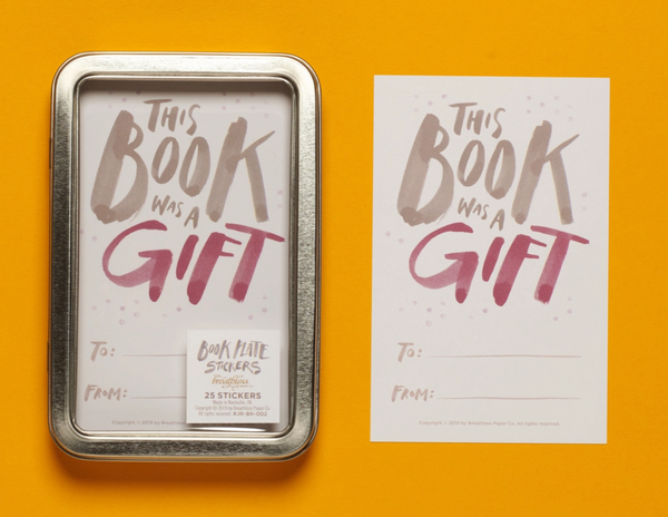 """This Book Was A Gift"" Bookplate Sticker Set"