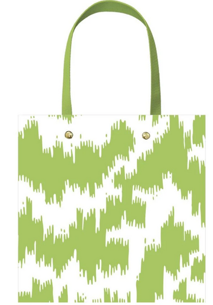Modern Moire Green Small Gift Bag