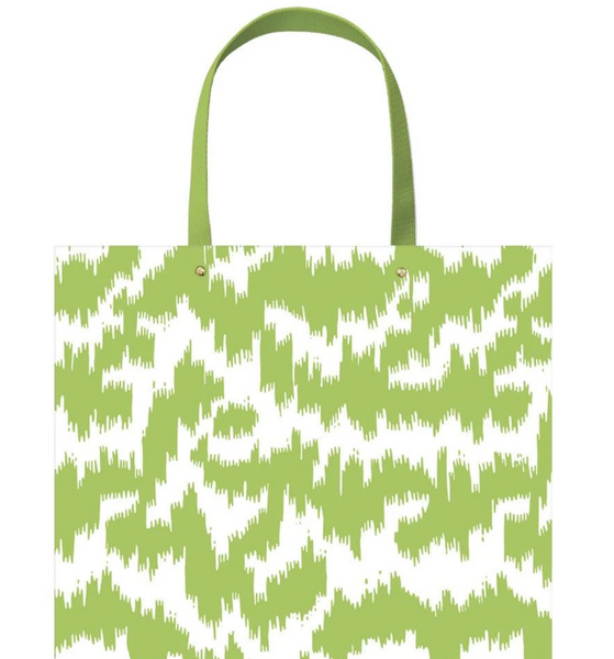 Modern Moire Green Large Gift Bag