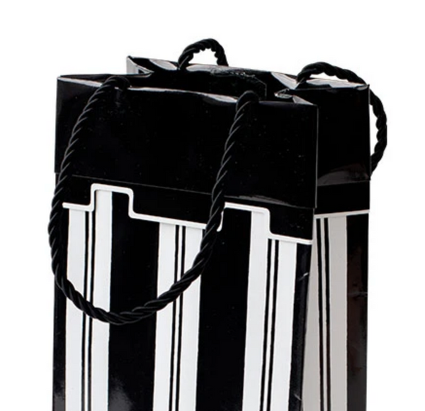 Awning Stripe - Black and White Small gift Bag