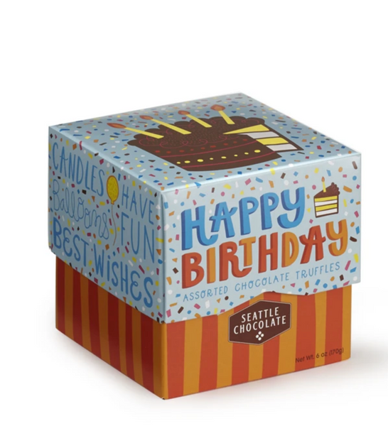 Happy Birthday Chocolate Truffle Box - 6 oz.