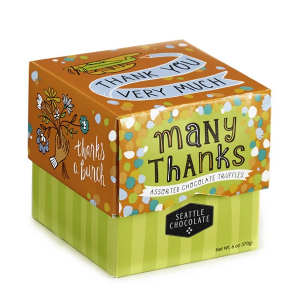 Many Thanks Chocolate Truffle Box - 6 oz.