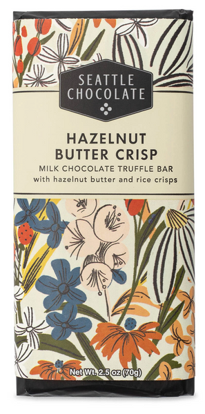 Hazelnut Butter Crisp Chocolate Truffle Bar