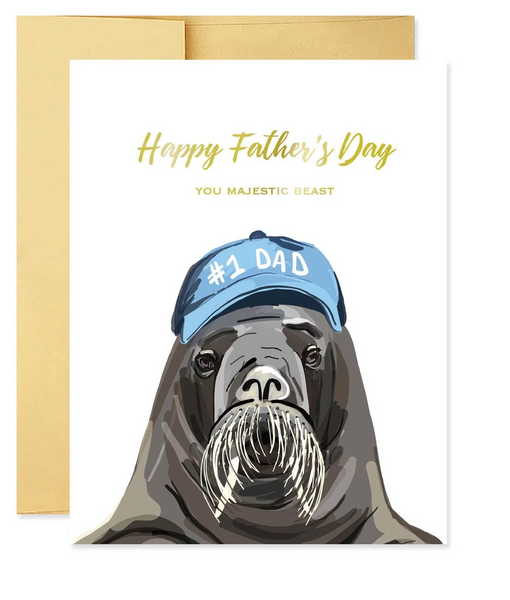 Majestic Beast Father's Day Card