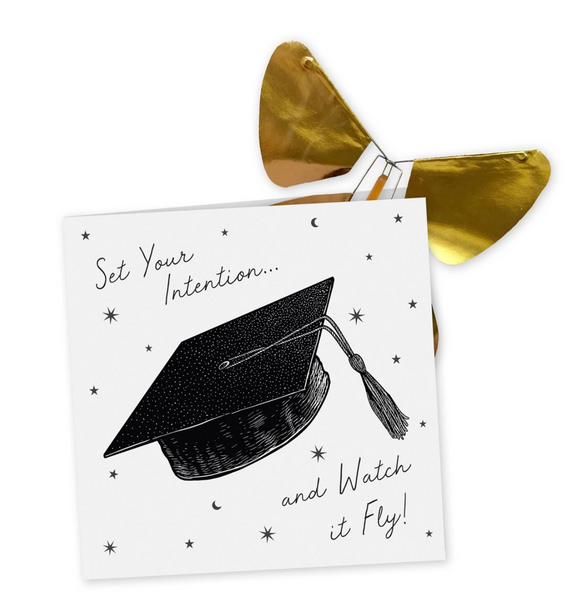 Graduation Day Card w/Magic Butterfly