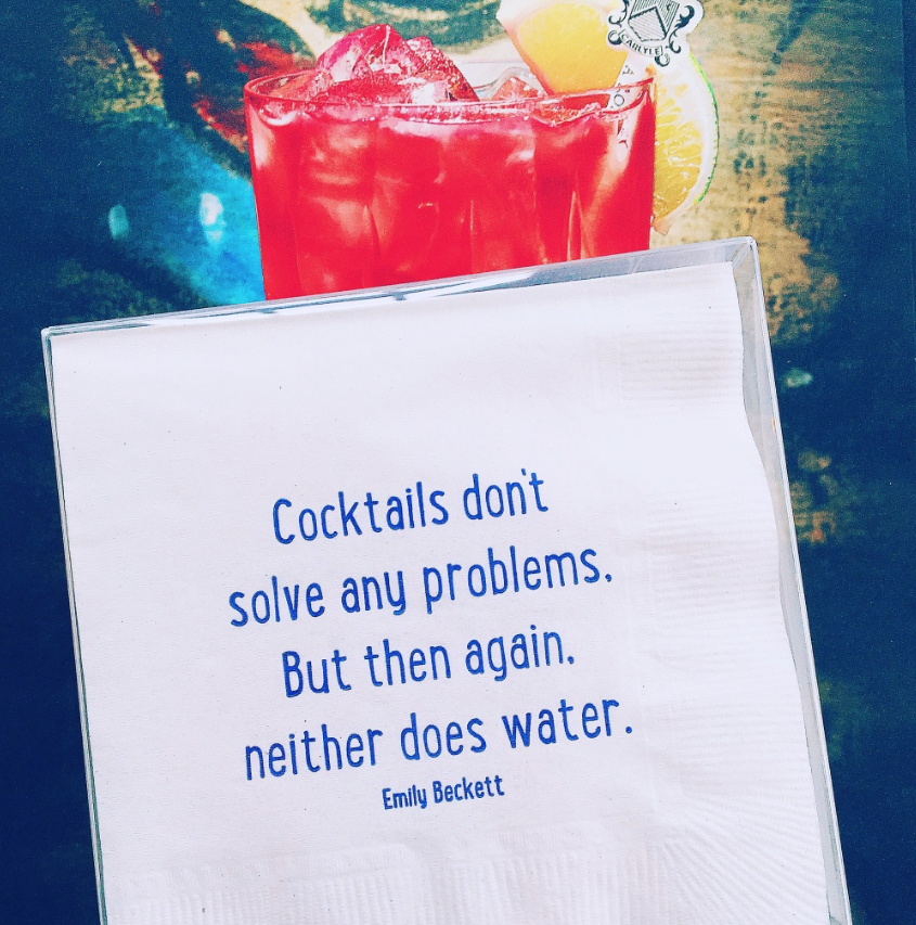 Cocktails Don't Solve Any Problem