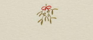 Mistletoe Note Cards S/10