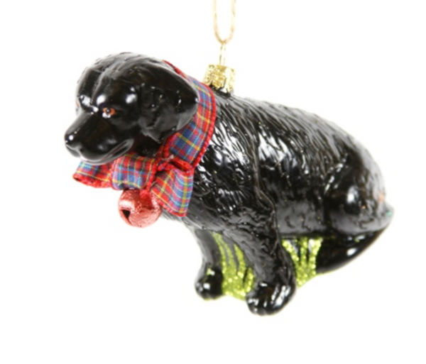 Festive Black Lab Ornaments