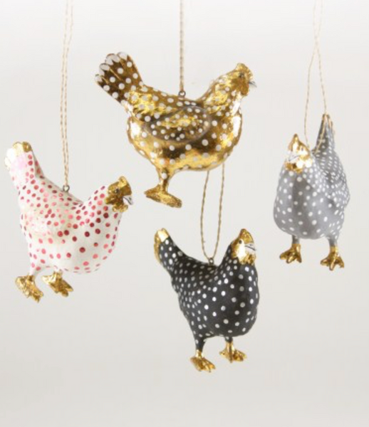 Merriment Hen Ornaments