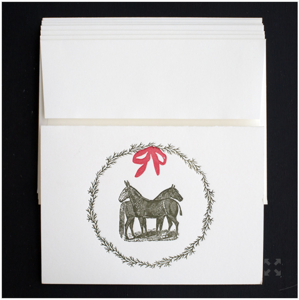 Equine Wreath Holiday Cards S/6