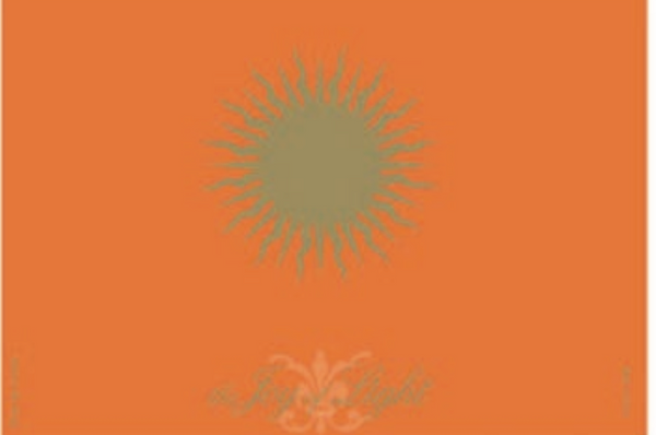 Sun on Orange Foiled and Embossed, Matchbox 4""