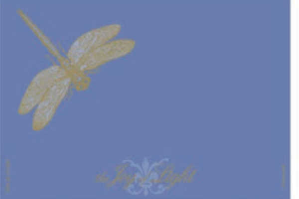 Dragonfly on Periwinkle Foiled and Embossed, Matchbox 4""