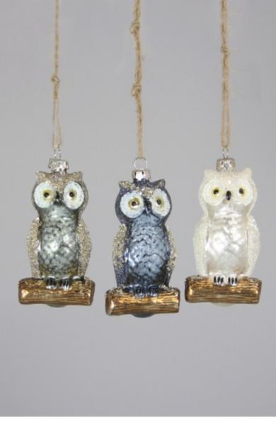 Sparkling Owl Ornament
