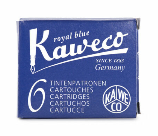 Kaweco Ink Cartridges - 6 Pieces - Royal