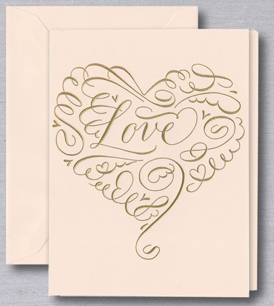 Love Heart Anniversary Greeting Card