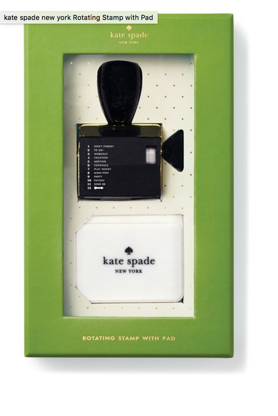 Kate Spade Rotating Stamp & Ink Set