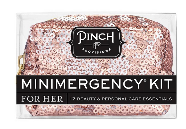 Minimergency Kit for Her - Sequin Rose Gold