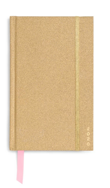 12 Month Classic Planner, Gold Glitter - 1/20 - 12/2020
