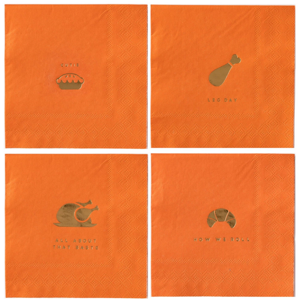 "Basic Harvest Icon - 5"" Napkins"