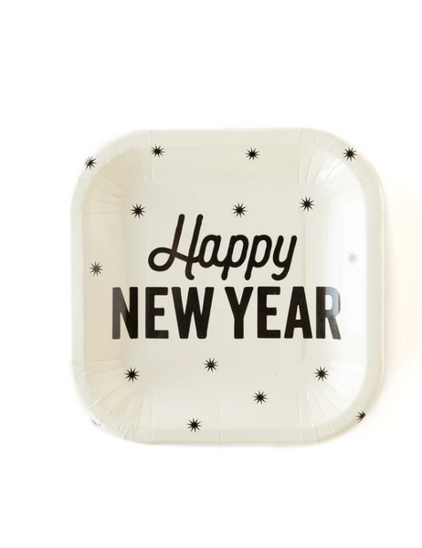 "Happy New Year 7"" Plate"