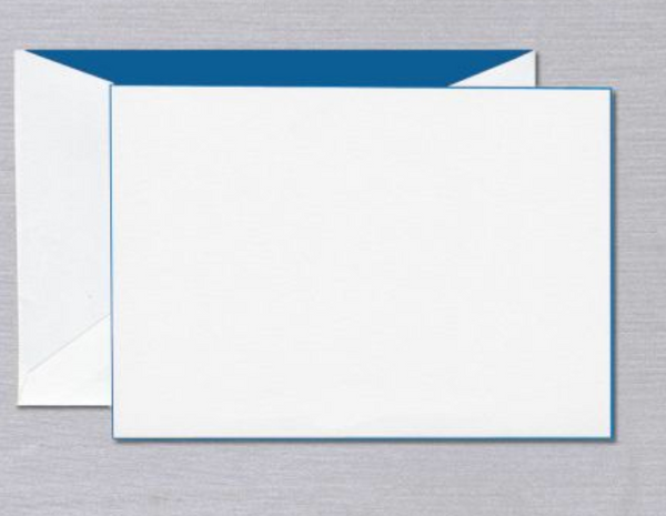 Blue Foil Edged Card - S/6