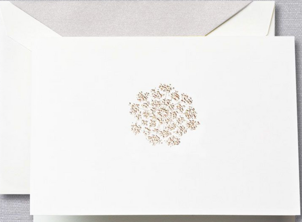 Engraved Queen Anne's Lace Note - S/10