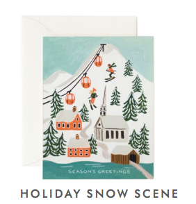 Holiday Snow Scene Card - Boxed Set/8