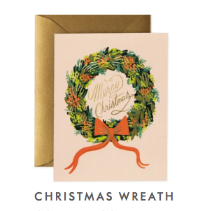 Christmas Gold Wreath Note Cards Box of 10 Crane /& Co