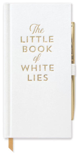 "Skinny Journal with Pen/ ""The Little Book of White Lies"""