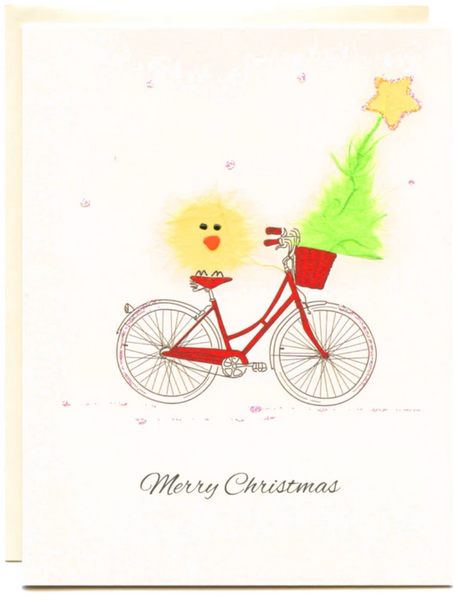 """Merry Christmas"" Bike with Bird"