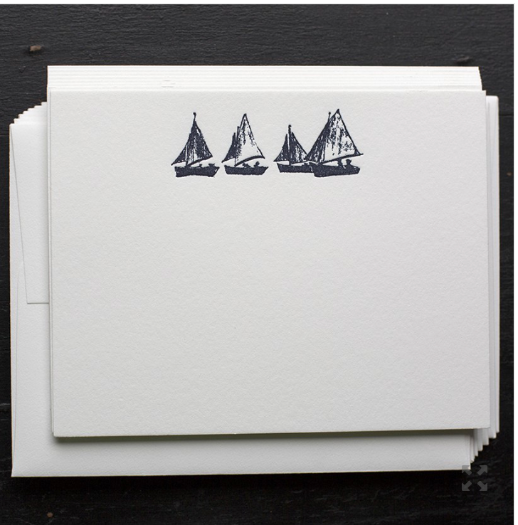 Sailboat Notecards - S/8