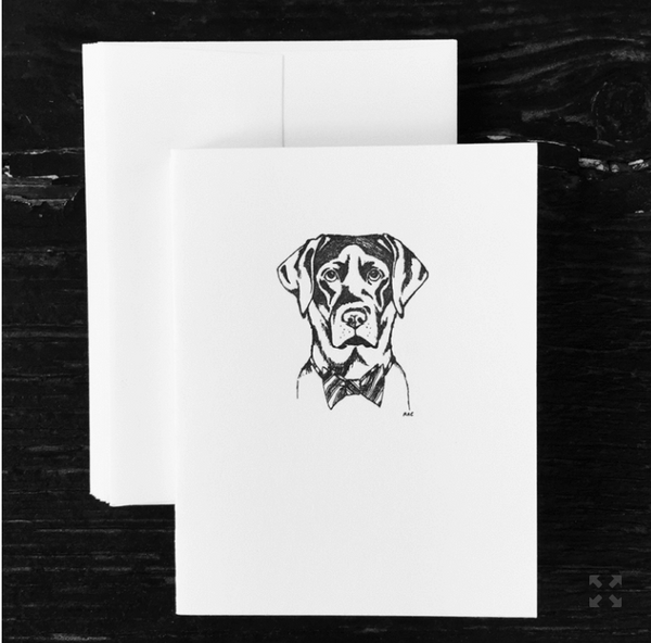 Black Lab Note Cards - S/8