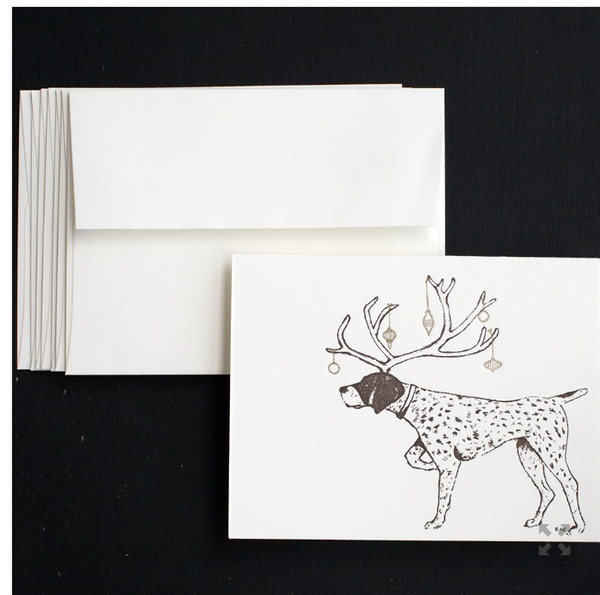 Holiday Pointer Notecards - S/8