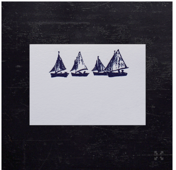 Sailboat Petite Cards- pkt/10