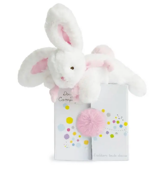 Bunny Stuffed Plush Animal with Pom Pom Tail - Pink