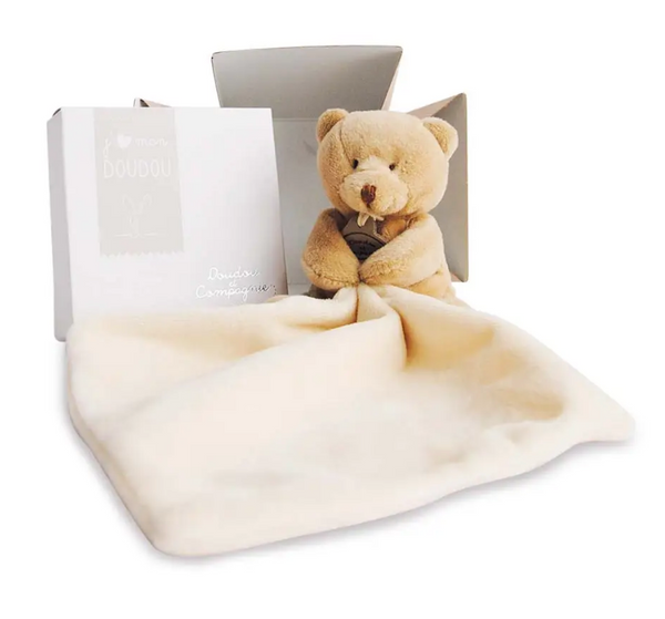 Teddy Bear with Doudou Baby Blanket