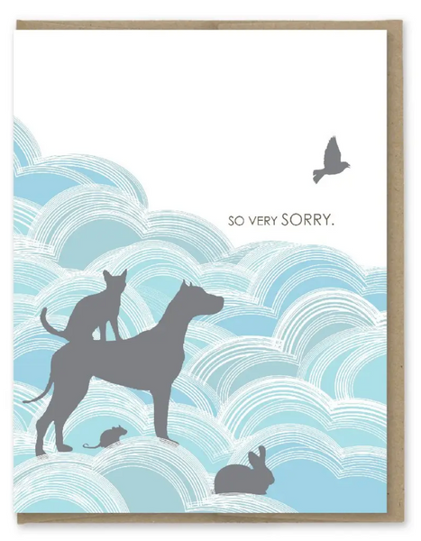 So Very Sorry Pet Card