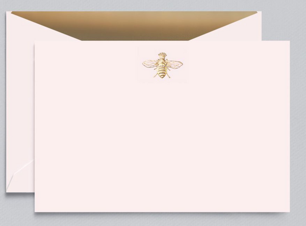 Engraved Queen Bee Correspondence Card - 10 Cards/10 Lined Envelopes
