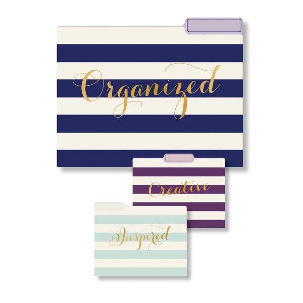 File Folder Collection Wide Stripes