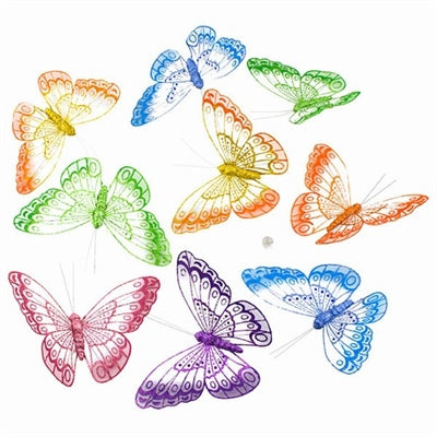 Jumbo Fall Mesh Butterfly Garland